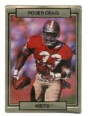 ROGER CRAIG SAN FRANCISCO 49ER'S 1990 TRADING CARD #242 WITH 3D EFFECT